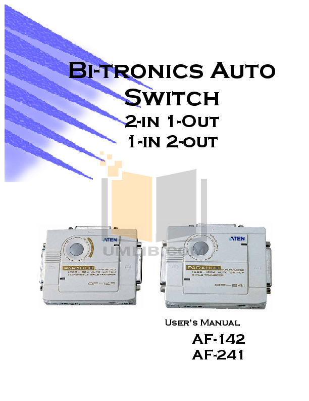 pdf for ATEN Switch AS251S manual