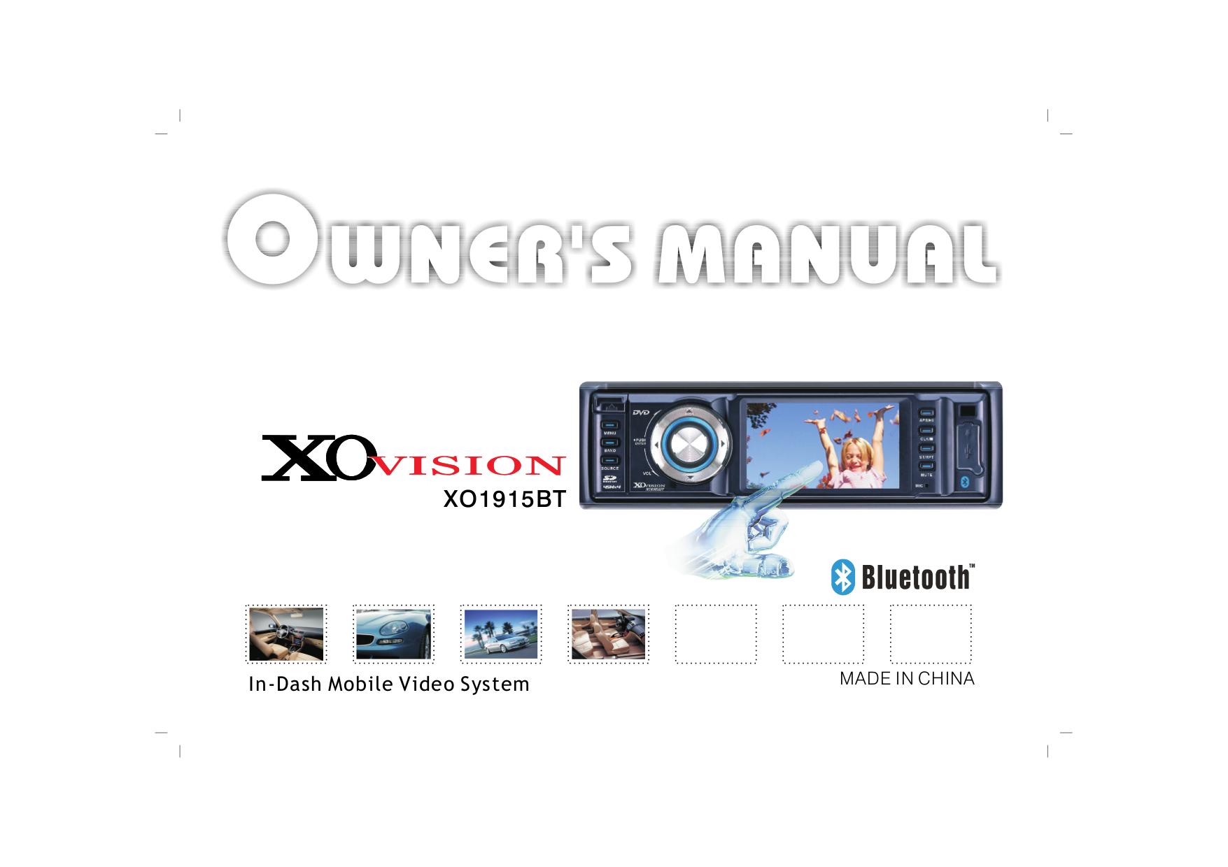 XOVision Car Video XO1915BT pdf page preview