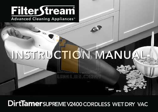 pdf for FilterStream Vacuum V2400 manual