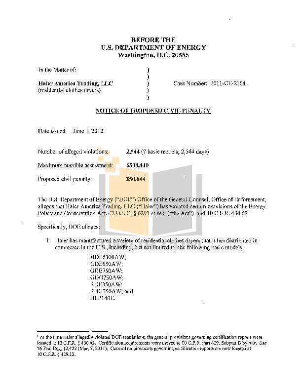 pdf for Haier Dryer HLP140E manual