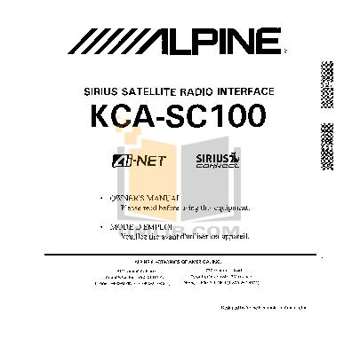 pdf for Alpine Car Video IVA-D100 manual