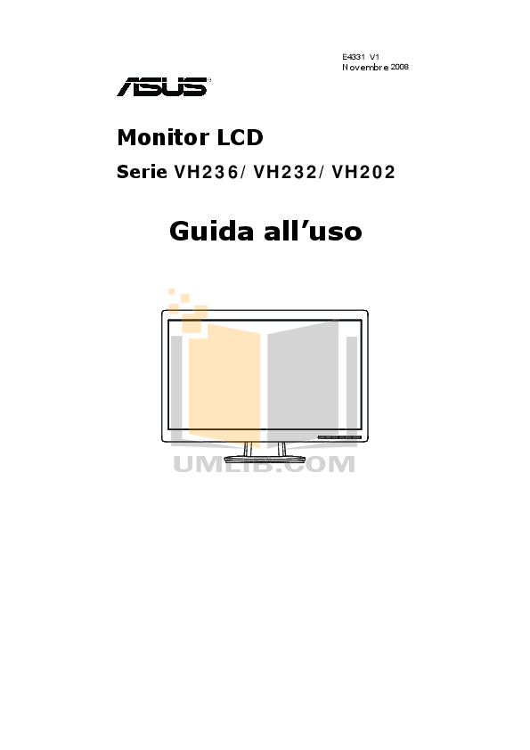 pdf for Asus Monitor VH202T manual