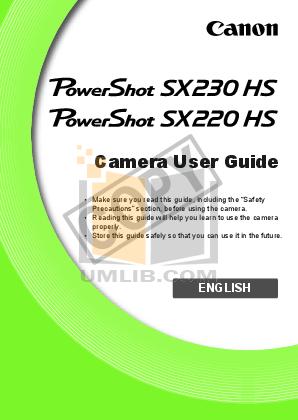 pdf for Canon Digital Camera Powershot S230 manual