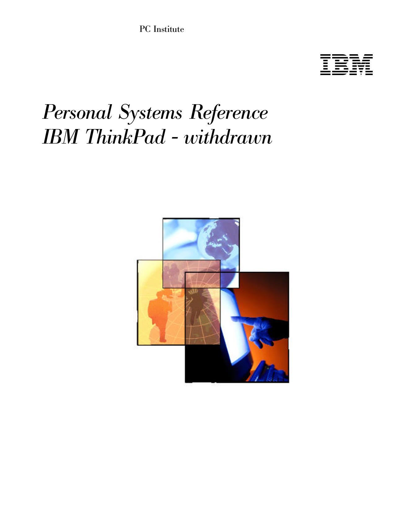 pdf for IBM Laptop ThinkPad 770E manual