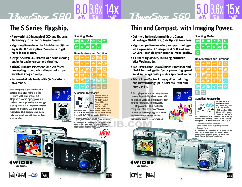 Canon Digital Camera Powershot SD300 pdf page preview