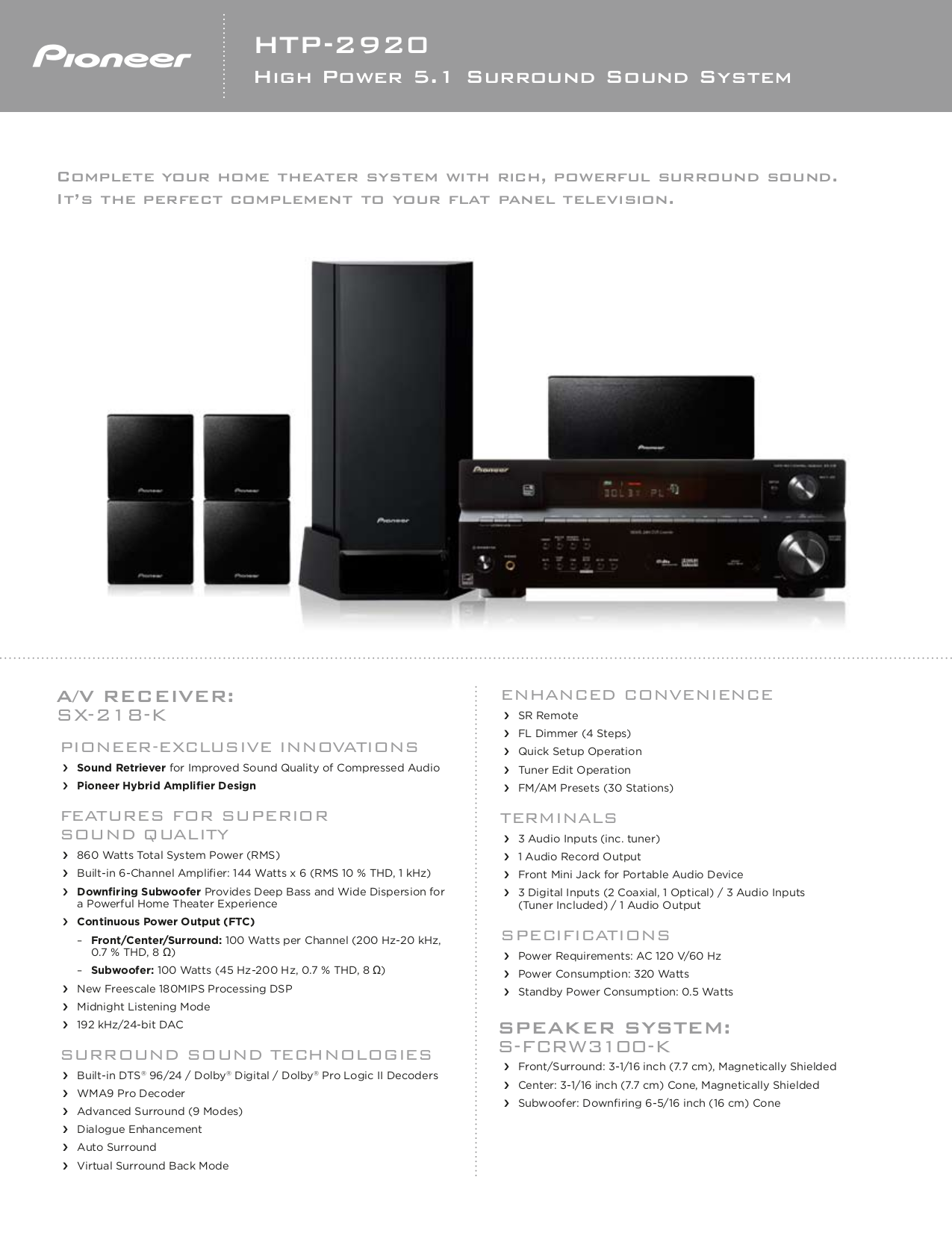 download free pdf for pioneer htp 2920 home theater manual rh umlib com pioneer home theater instruction manual home theater pioneer htp074 manual