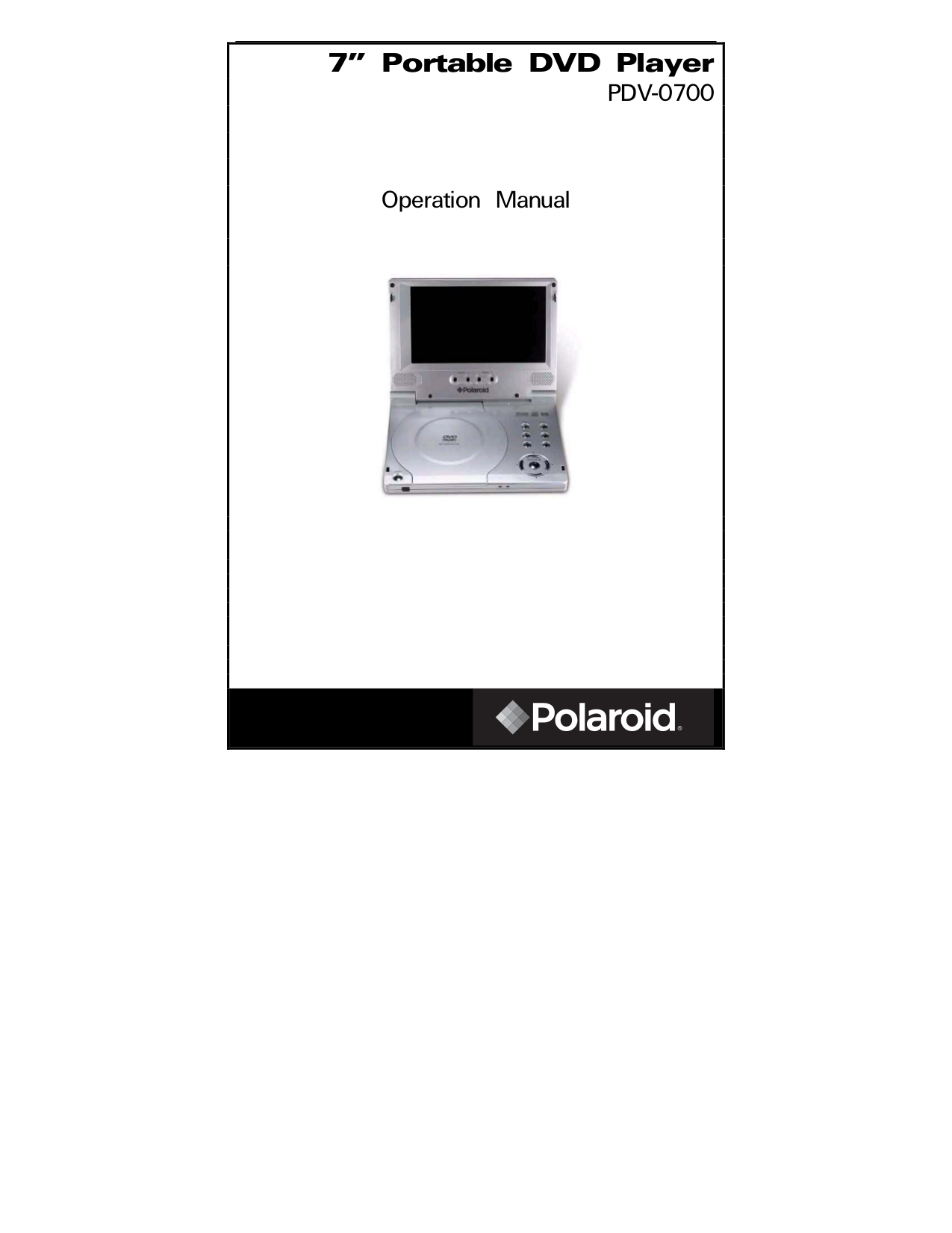 download free pdf for polaroid pdv 0700 portable dvd player manual rh umlib com Polaroid DVD Battery Replacement RCA Portable DVD Player