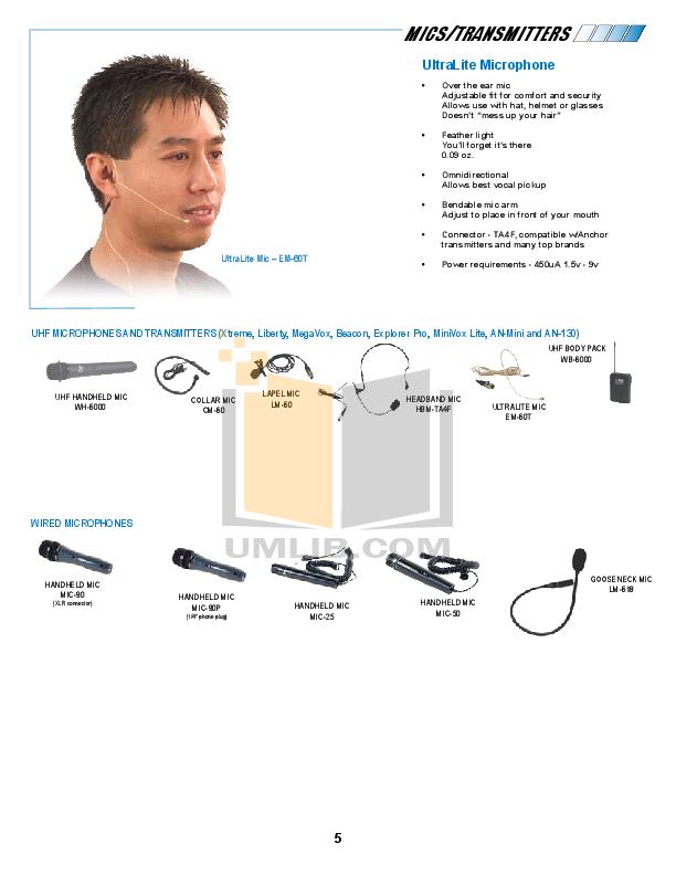 Anchor Speaker AN-130U1BK pdf page preview