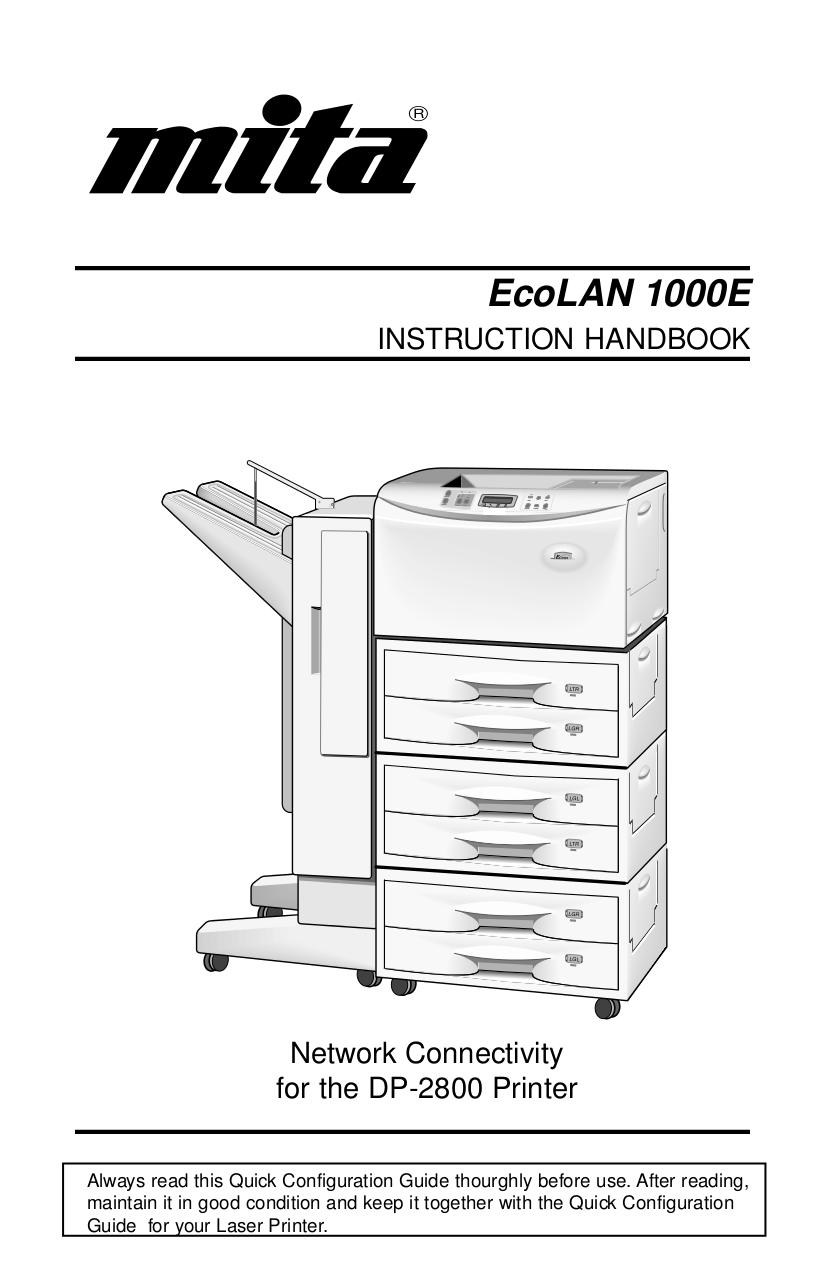 pdf for Kyocera Printer DP-2800 manual