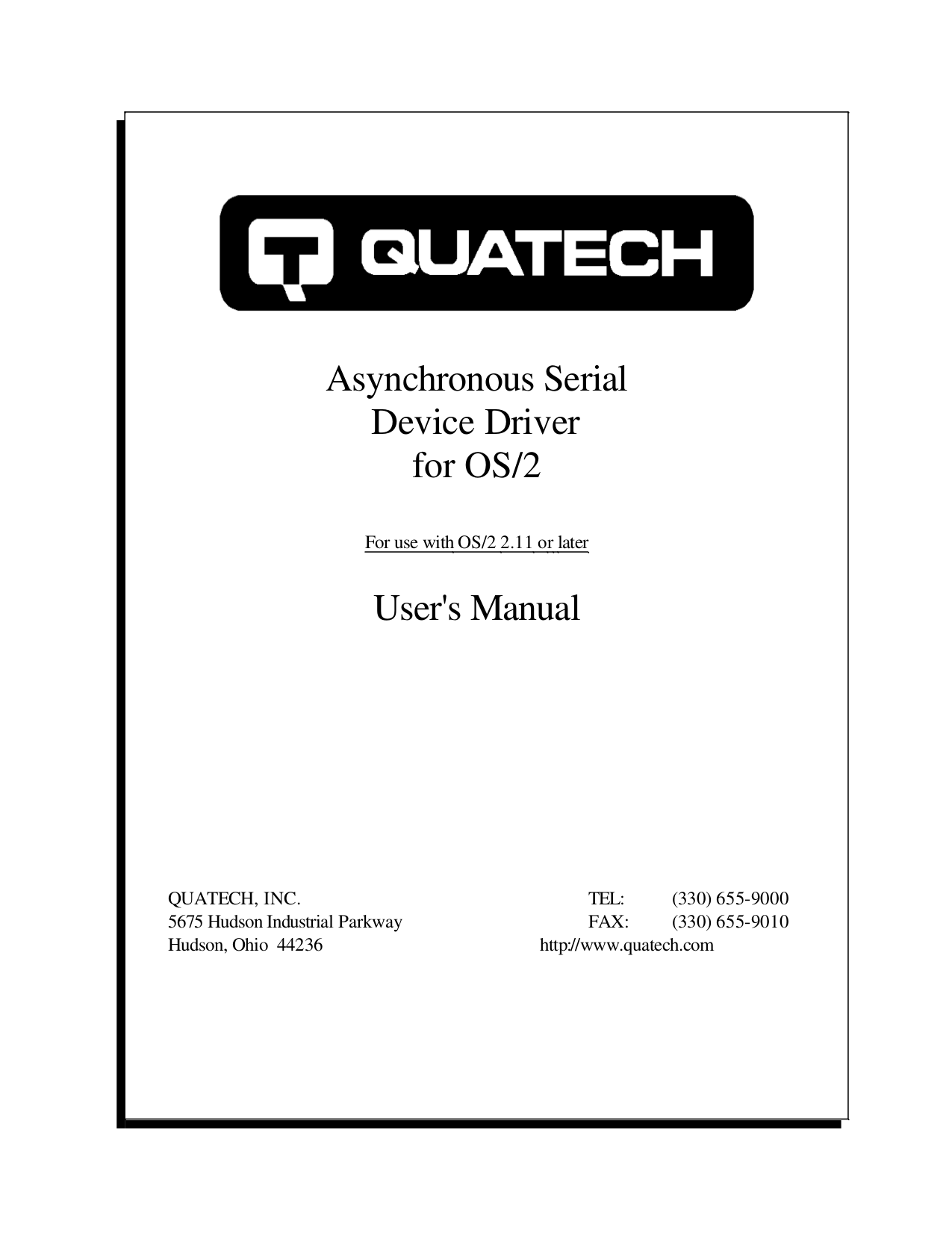 pdf for Quatech Other SSCLP-200 PCI Serial Boards manual