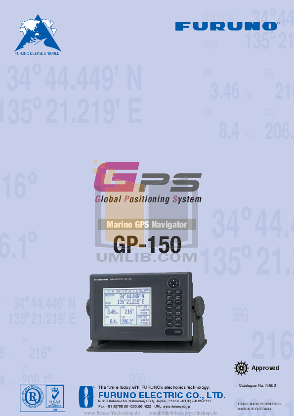pdf for Furuno GPS GR-80 manual