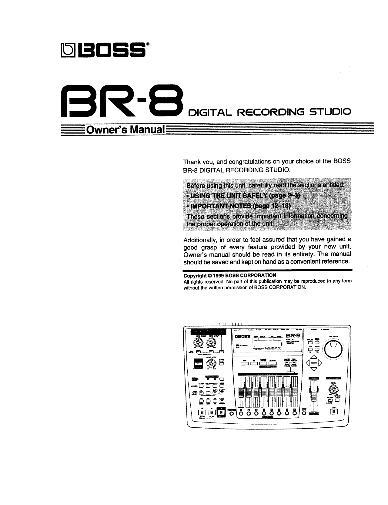 pdf for Owi Speaker BR8 manual