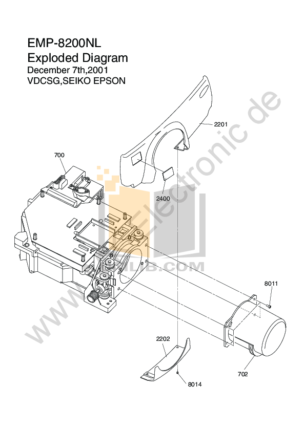 pdf for Epson Projector EMP-8200NL manual