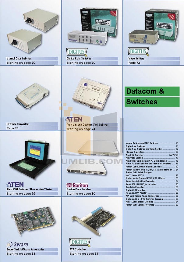 pdf for ATEN Other MasterView CS-114A KVM Switch manual