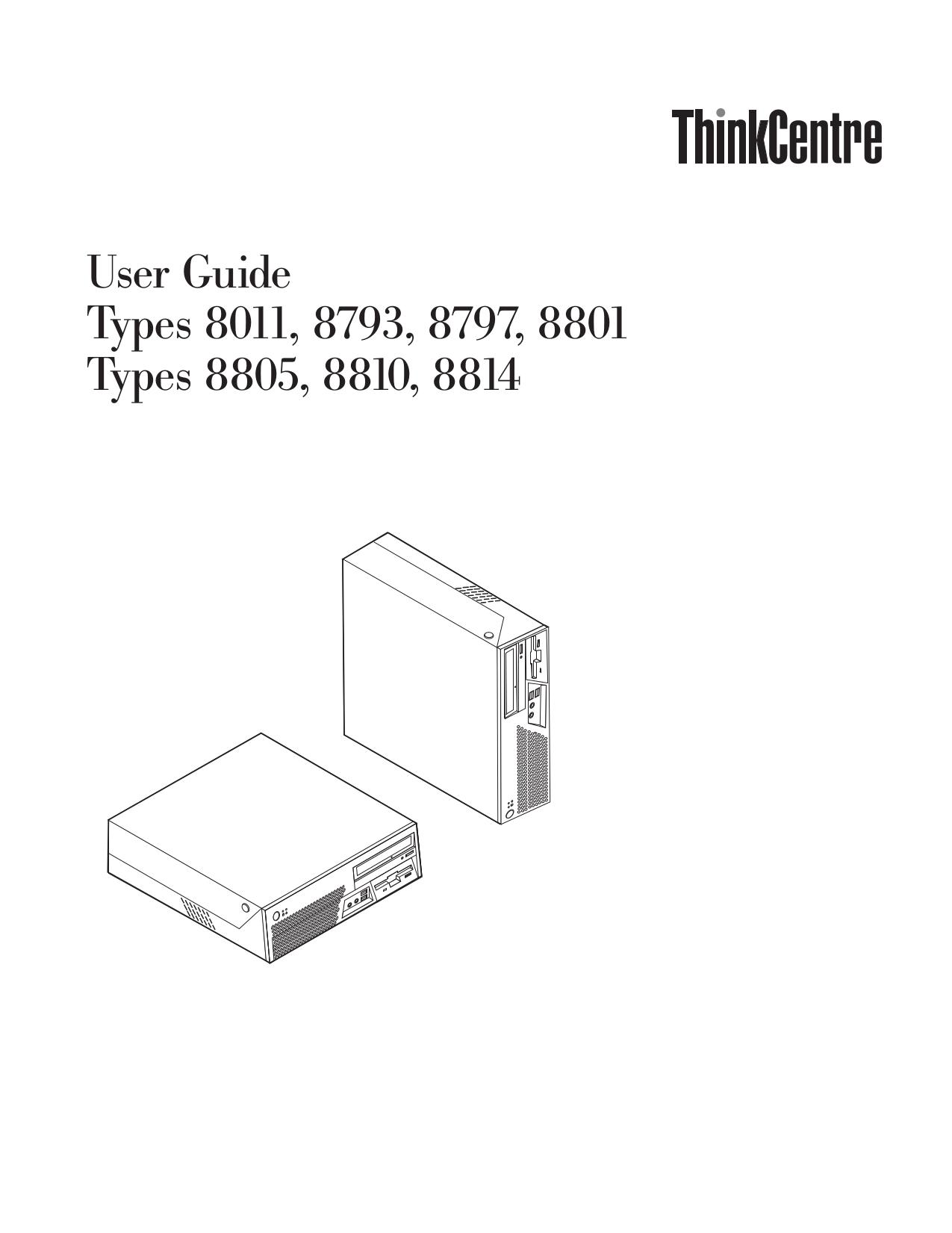 pdf for Lenovo Desktop ThinkCentre M55 8814 manual