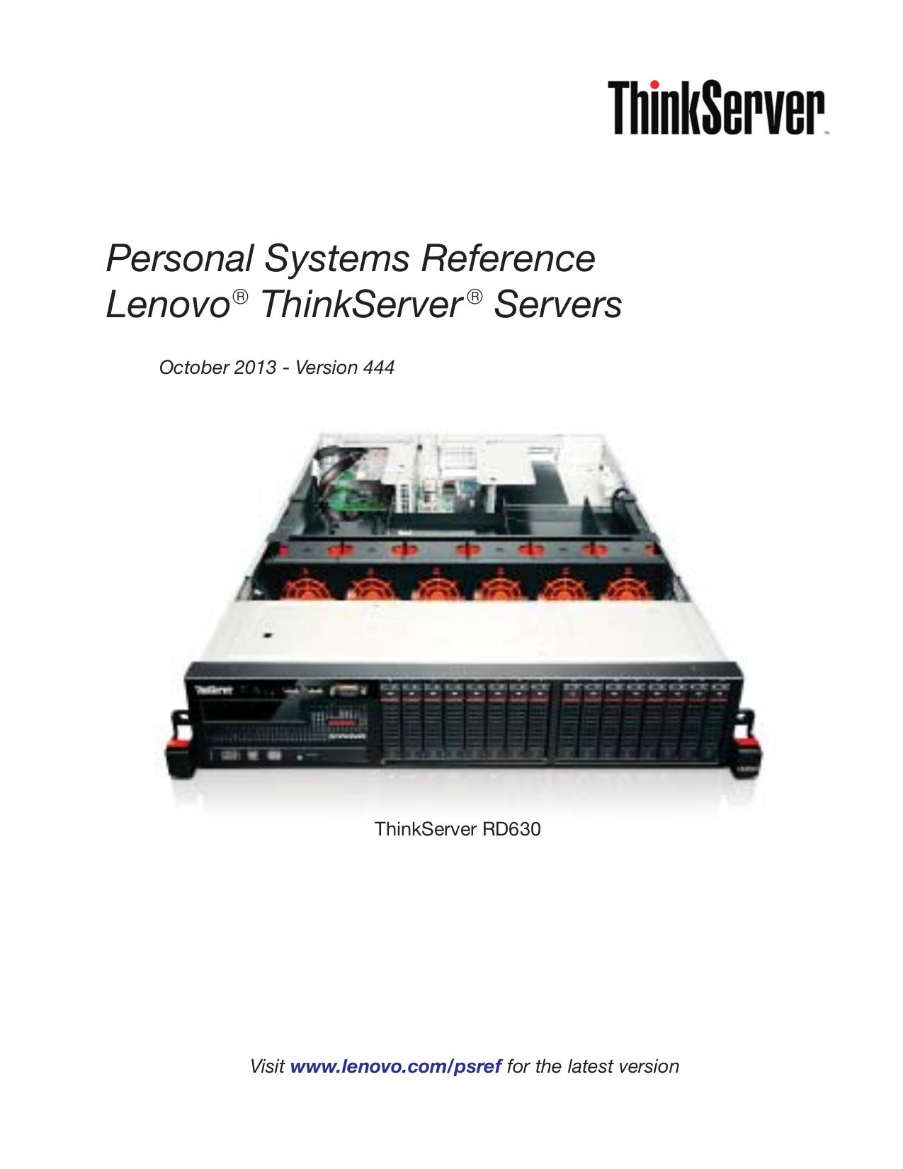 pdf for Lenovo Desktop ThinkServer TS200 manual