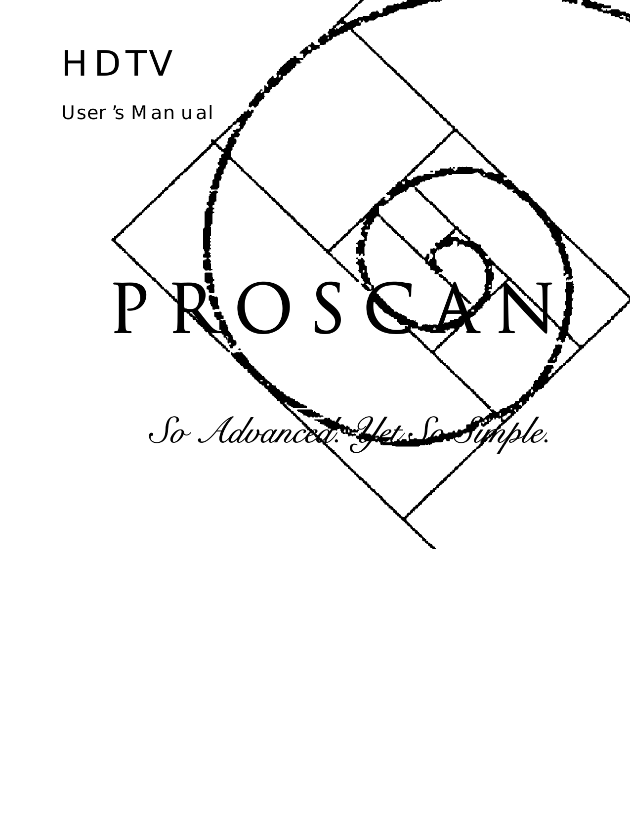 proscan manuals tv