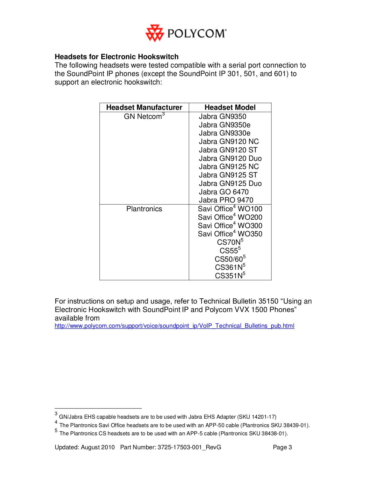 PDF manual for Plantronics Headset CS50
