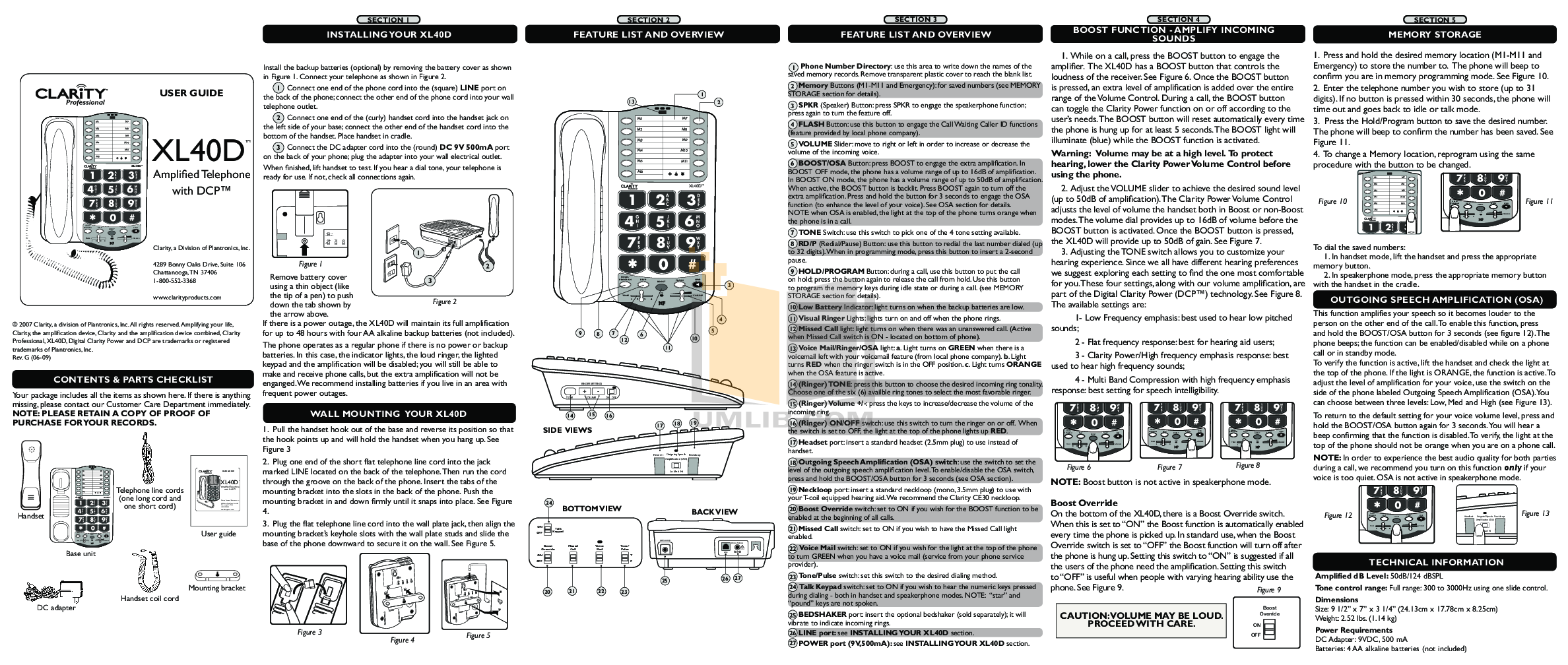 pdf for Ameriphone Telephone XL40 manual