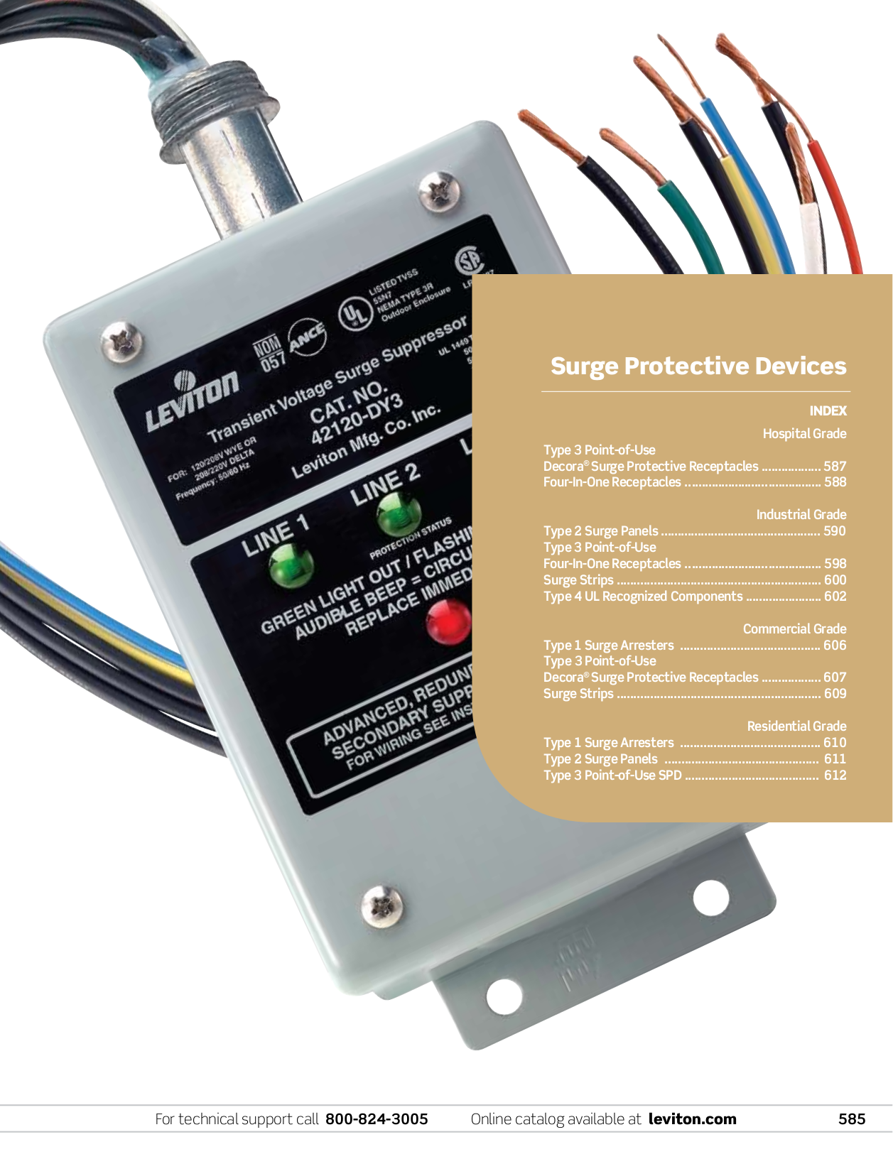 Leviton Other 52000 Series 52412-DS3 Surge Suppressors pdf page preview ...