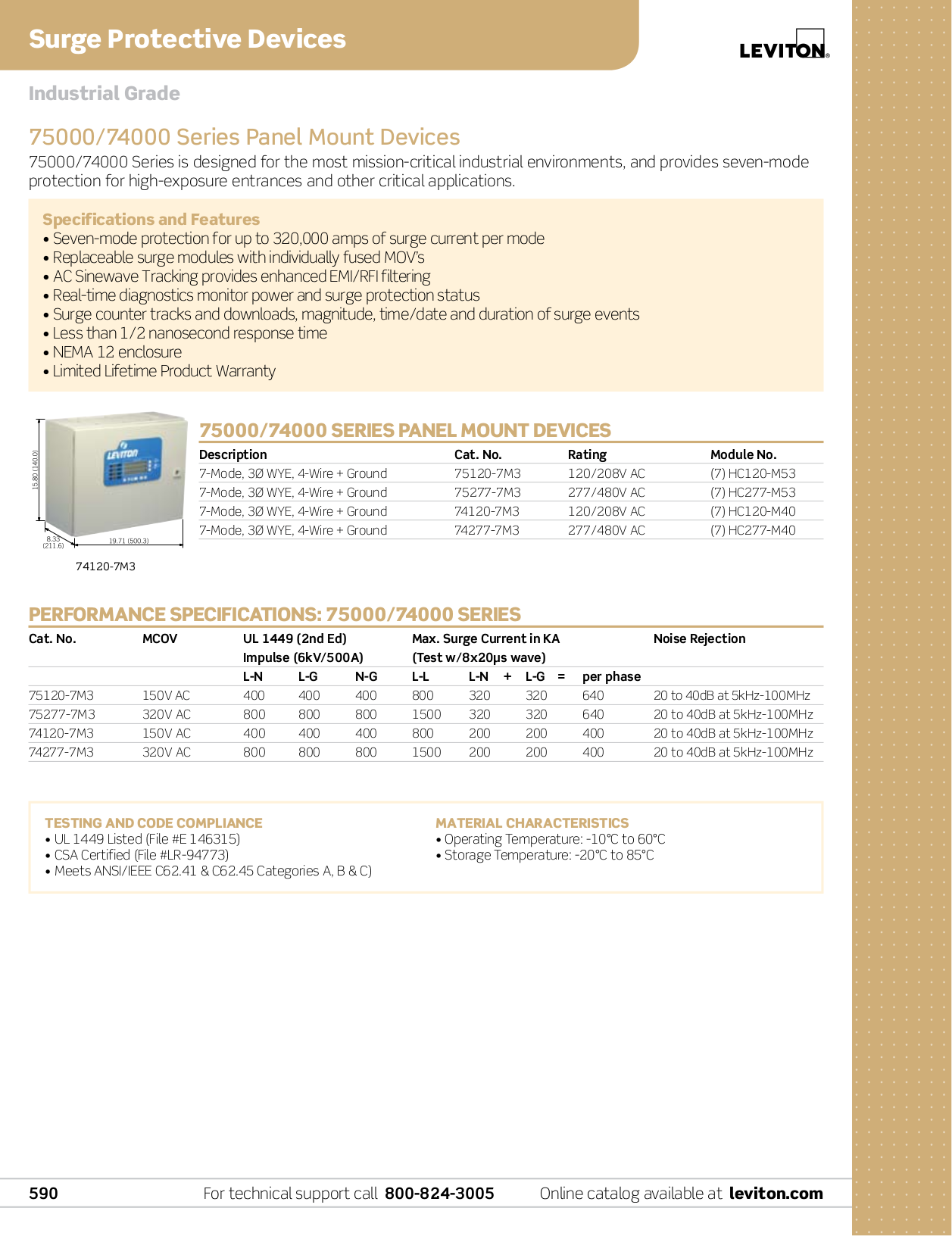 ... Leviton Other 52000 Series 52412-DS3 Surge Suppressors pdf page preview  ...
