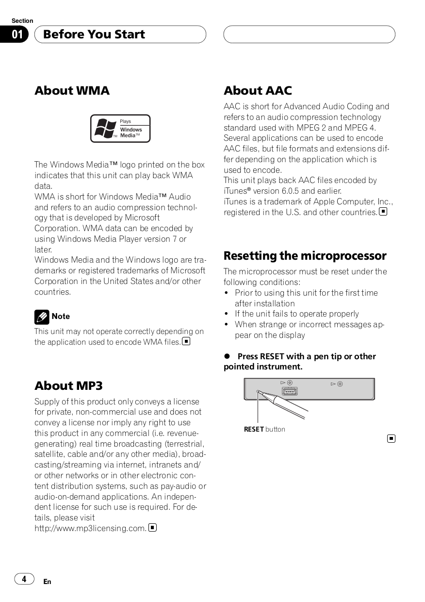 PDF manual for Pioneer Car Receiver DEH-P580MP