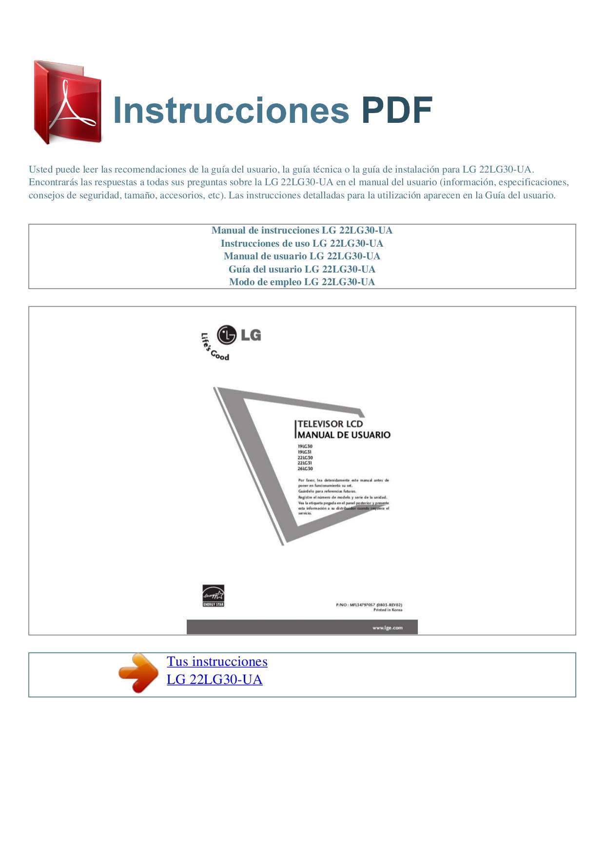 Download Free Pdf For Lg 22lg30 Tv Manual Hospital Wiring Diagram