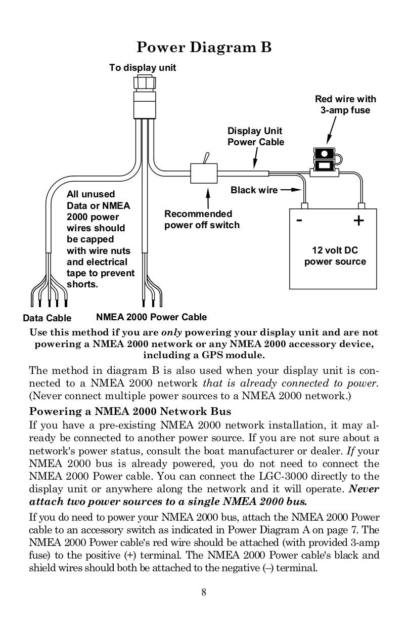 Pdf Manual For Lowrance Gps Lgc 12w Wiring Diagram Page Preview