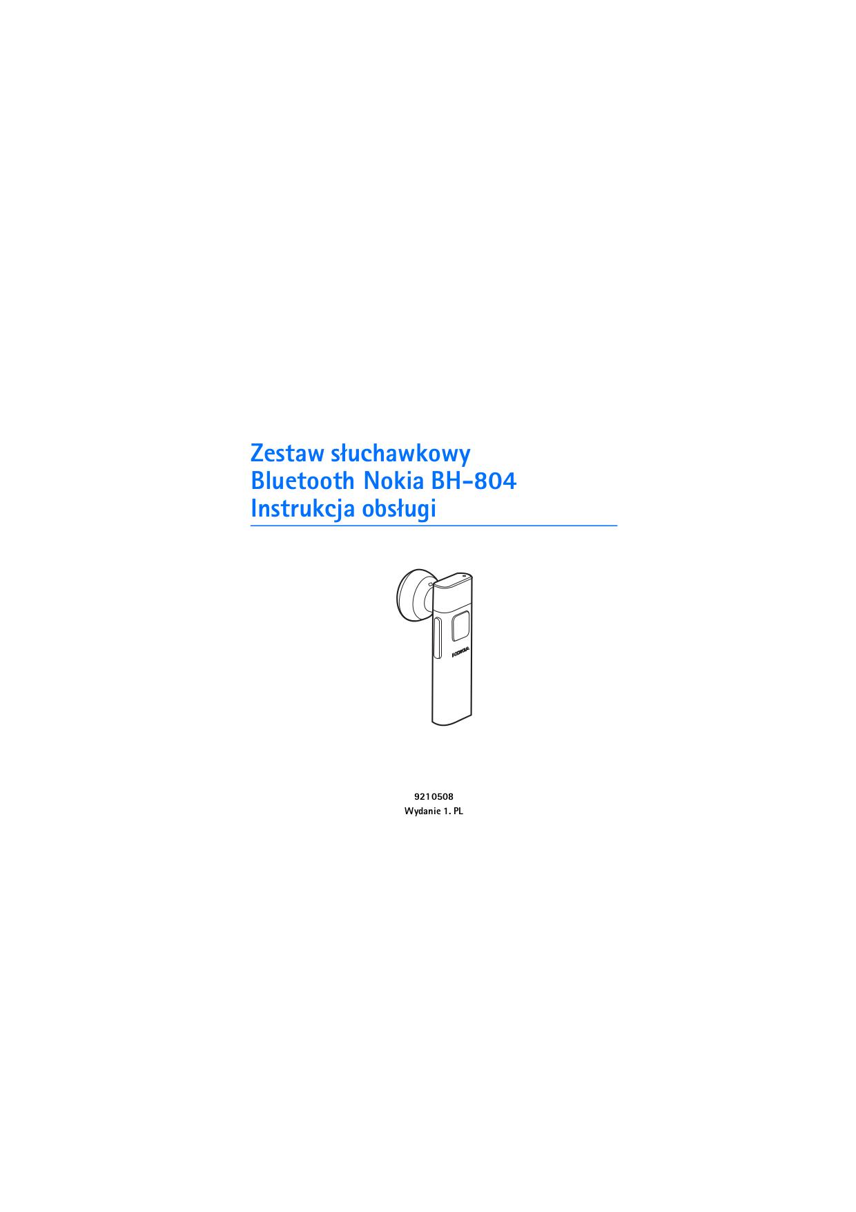pdf for Nokia Headset BH-804 manual
