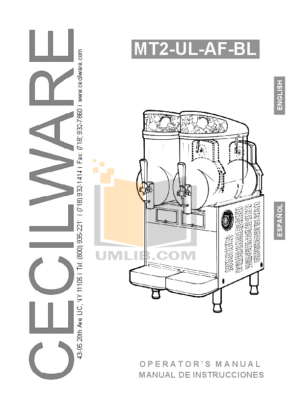 pdf for Cecilware Other MT-2-ULAF Dispensers manual