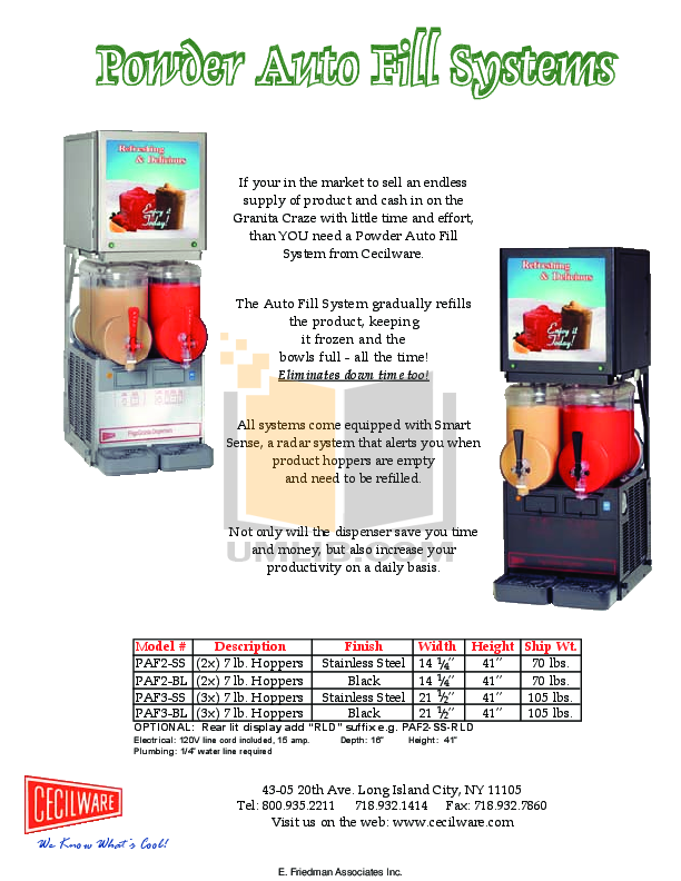 Cecilware Other MT-2-ULAF Dispensers pdf page preview