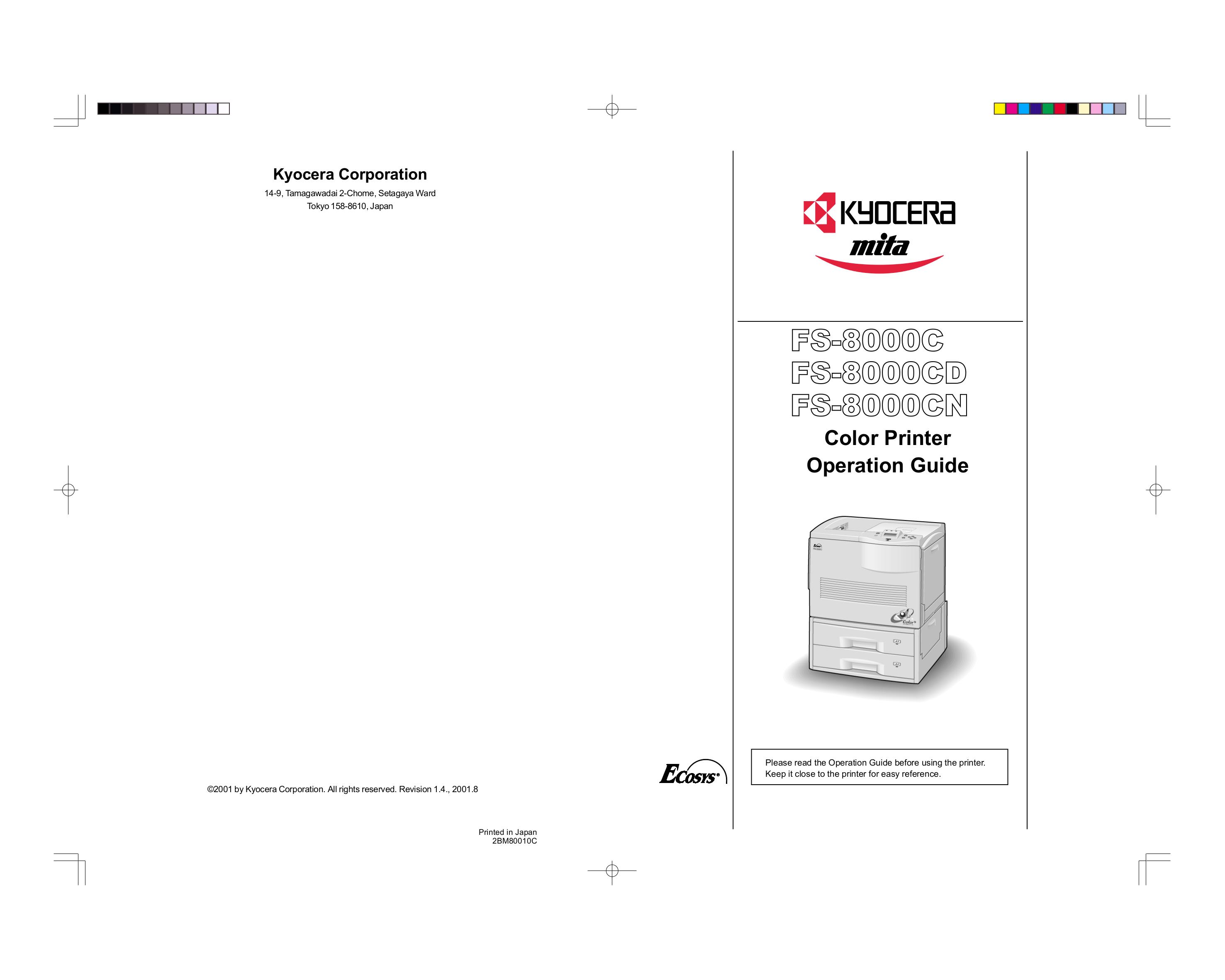 pdf for Kyocera Printer FS-8000C manual