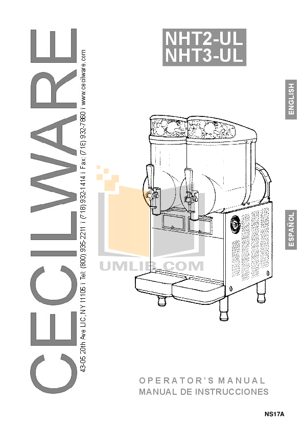 pdf for Cecilware Other NHT-1P-UL Dispensers manual