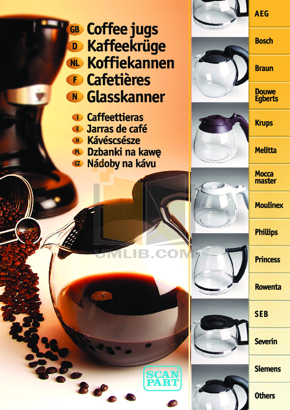 pdf for Braun Coffee Maker KF152 manual