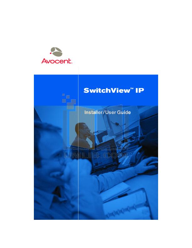 pdf for Avocent Switch MPU108EDAC-001 manual