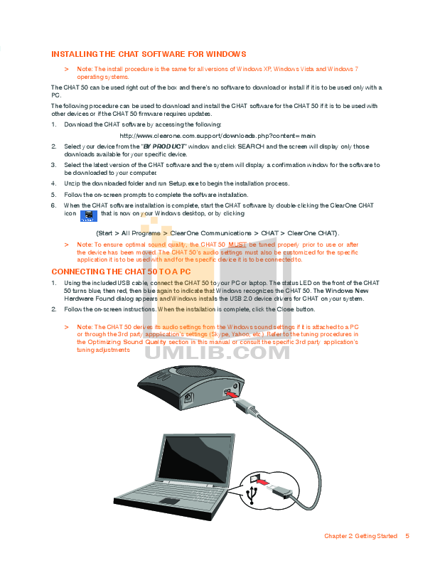ClearOne Telephone Chat 50 pdf page preview