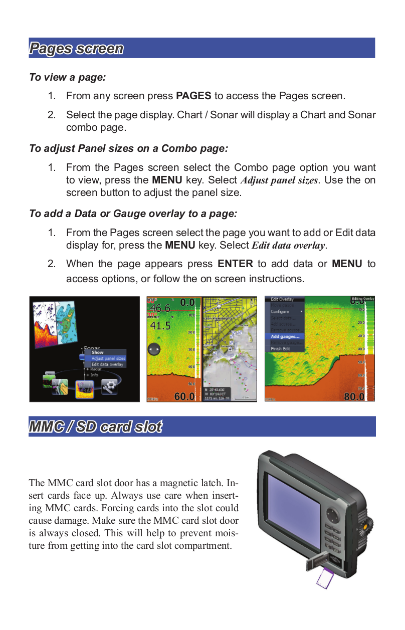 Lowrance GPS HDS-5m pdf page preview