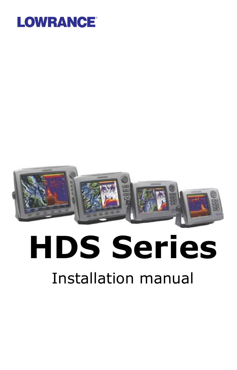 pdf for Lowrance GPS HDS-5m manual