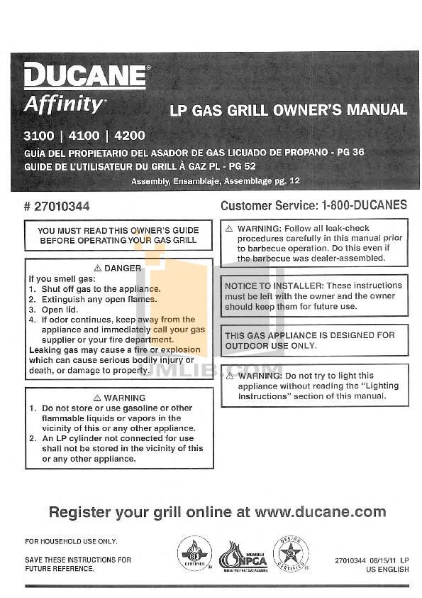 download free pdf for ducane affinity 4100 grill manual rh umlib com Ducane Heating Parts Ducane Heating Parts