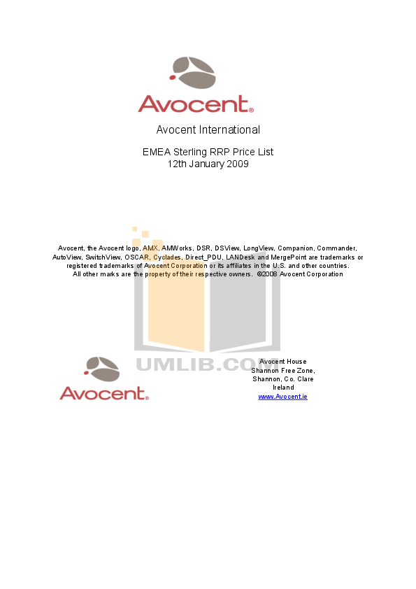 pdf for Avocent Switch AutoView AutoView 2020 manual