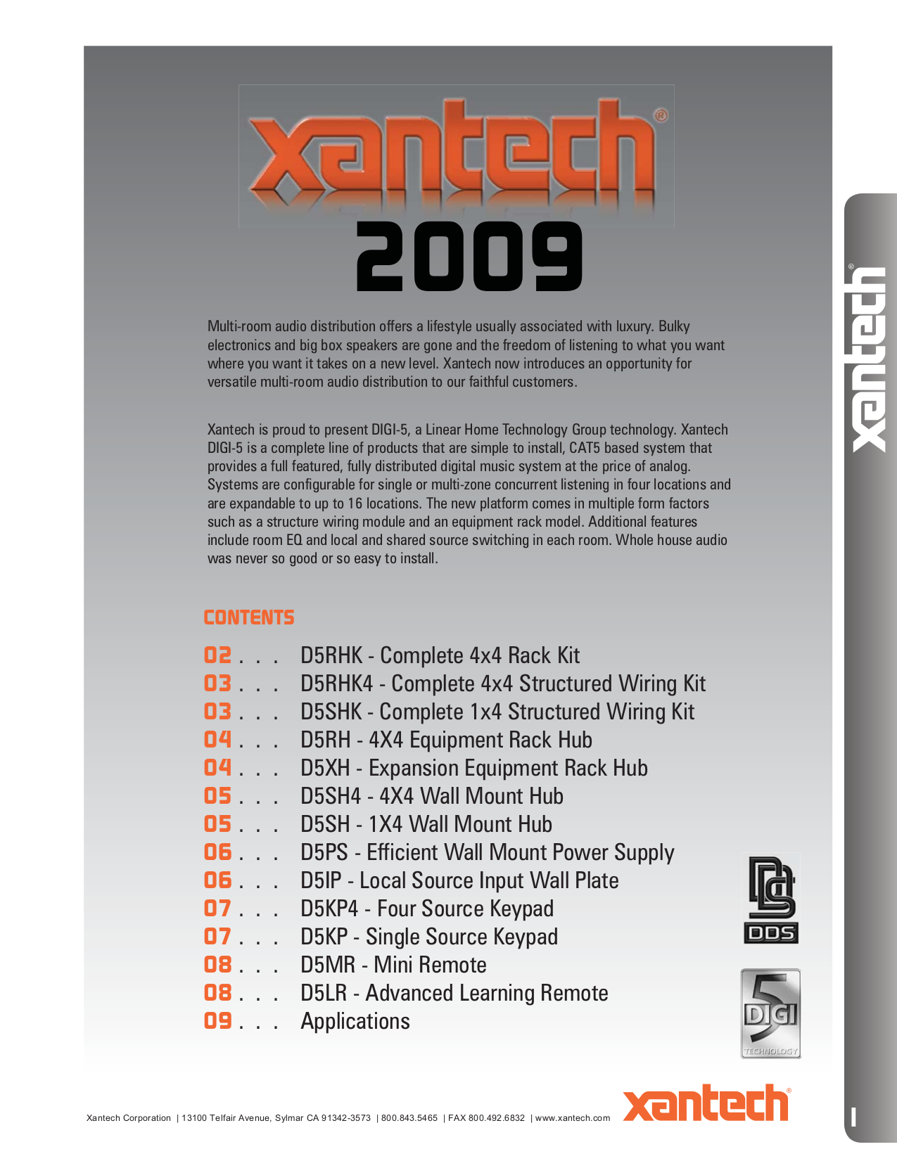 pdf for Xantech Other D5SH4 Distribution Systems manual