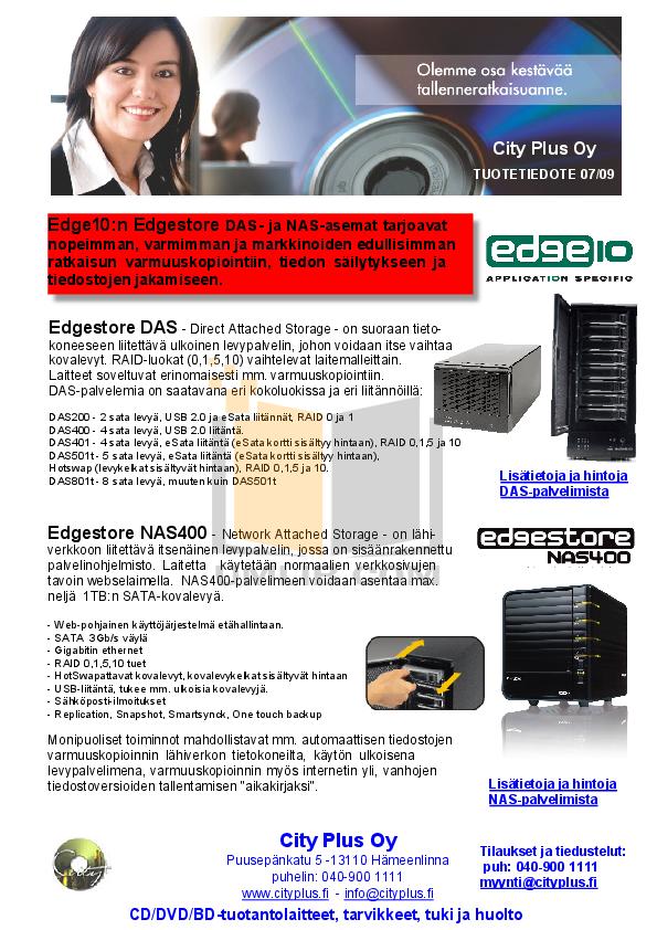 pdf for Edge10 Storage DAS400 manual