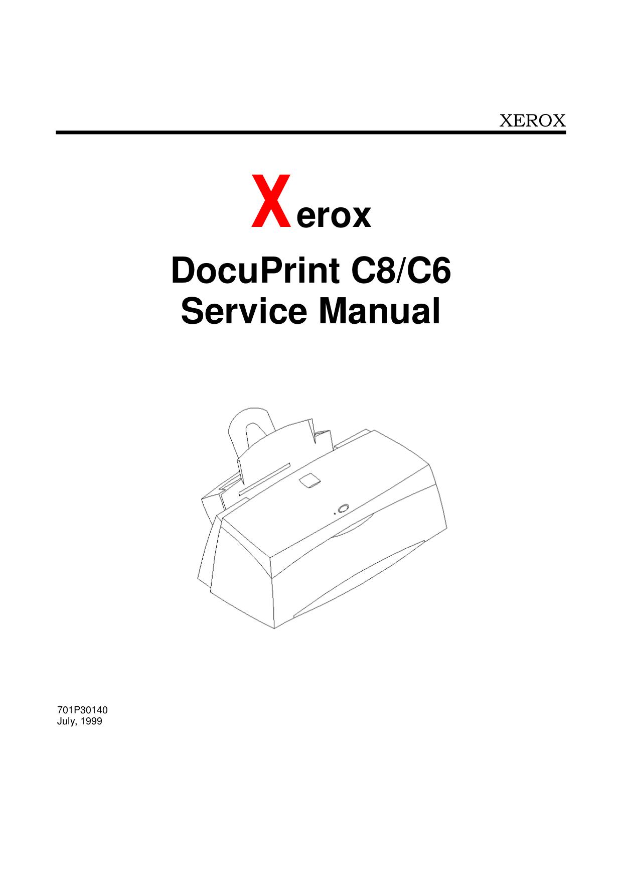 pdf for Xerox Printer DocuPrint C8 manual