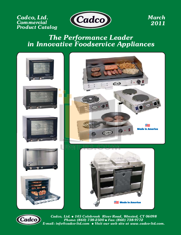 pdf for Cadco Grill CPG-10 manual
