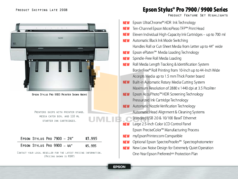 pdf for Epson Printer Stylus Pro 4880 manual
