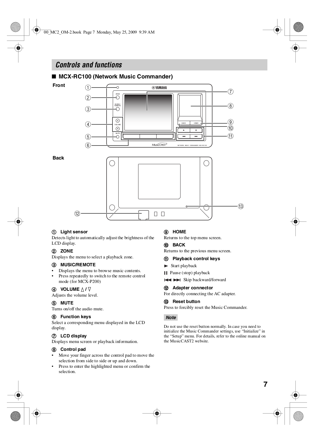 PDF manual for Yamaha Receiver RX-330