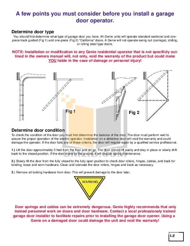 PDF manual for Genie Other Excelerator Garage Door Opener on