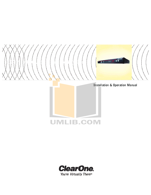 pdf for ClearOne Telephone XAP 800 manual