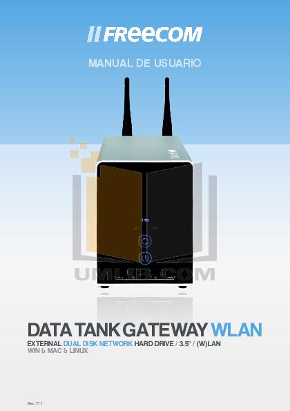 pdf for Freecom Storage Data Tank Gateway WLAN manual