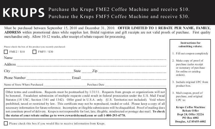 pdf for Krups Coffee Maker FME2 manual